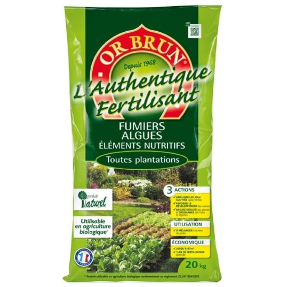L'Authentique Fertilisant Or Brun 40Kg